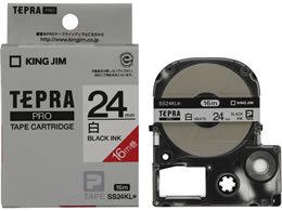 【在庫あり】キングジム テプラテープ ロングタイプ 白地黒文字 24ミリ幅 SS24KL 20220