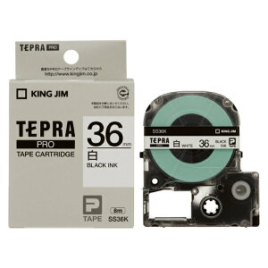 テプラ PRO用テープカートリッジ 白ラベル SS36K [黒文字 36mm×8m]