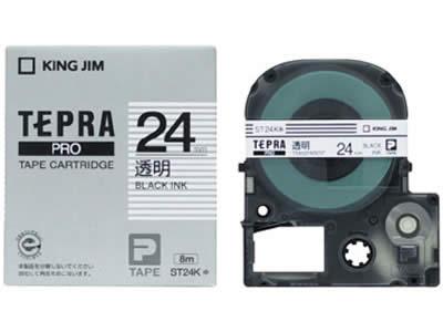 (KC)【在庫あり】キングジム テプラテープ 透明ラベル ST24K