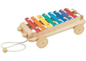 【エドインター】木のおもちゃ(シロフォンカー)/出産祝い/プレゼント/誕生日/男の子/女の子/知育玩具