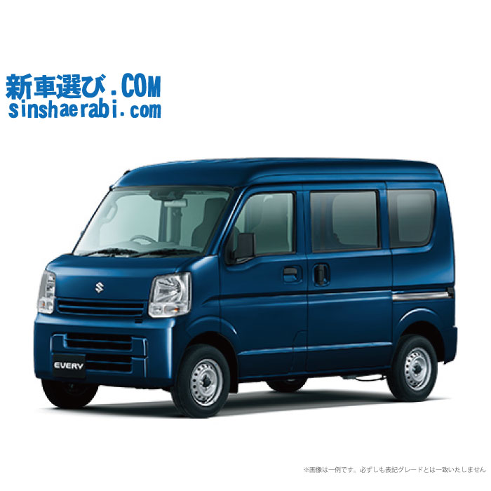 ☆月額 14,000円 楽乗りCAR 新車 スズキ エブリイバン 2WD 660 JOIN レーダブレーキサポート装着車 5AGS
