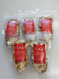 長野県産品 送料無料キャンペーン 信州産リンゴのドライサラダ5袋セット