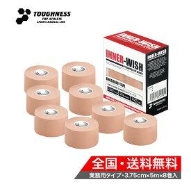 【 新商品 送料無料 】 キネシオロジーテープ / インナーウィッシュ / 3.75cm×5m×8巻入 / キネシオテープ / テーピングテープ / TOUGHNESS