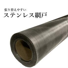 張り替えやすいステンレス網戸 1m×1m 切り売り 防虫網 張り替え用
