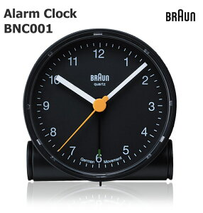 【BRAUN ブラウン】BRAUN Alarm Clock BC01B ブラウン 《ブラック/ホワイト》置き時計/目覚まし時計/ウォッチ/WATCH/北欧/デンマーク/ローゼンダール/LED/アラーム  スヌーズ機能 ルミナス針/ライ