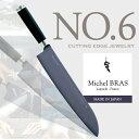 【Michel BRAS / ミシェル・ブラス】cutting edge jewelry No.6 包丁 刃渡り 265 mmほうちょう/包丁/キッチンアイテム/黒積層強化木/ケース付き/ステンレス/