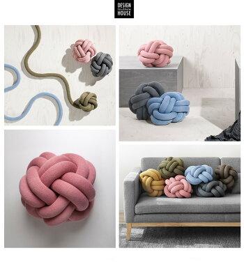 DesignHouseStockholm/KNOTノットクッションDesignedbyラグンへイズル・シグルザルドッティル/ファブリック/座布団/北欧/デザインハウスストックホルム/紐/球体/ボール【RCP】
