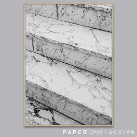 【PAPER COLLECTIVE】Marble steps/マーブルステップス 07122 50x70cmペーパーコレクティブ/Norm Architects/ノームアーキテクツ/ポスター/北欧/インテリア コンビニ受取対応【RCP】