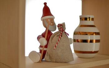 【KAYBOJESEN】SANTAPAINTEDBEECH/クリスマス/飾り/置物/雑貨/人形/木製/ブナ材【コンビニ受取対応商品】【RCP】