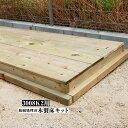 合計16,500円〜5%クーポン発行中【代引き不可】【EURO SHED ユーロ物置】防腐処理済木製床キット 3008k2用物置 おしゃ…