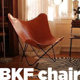 cuero/キュエロ BKF Chair/BKFチェア カラー:ブラウン Butterfly Chair/バタフライチェアベジタブルタンニンなめし革/MoMA/ミッドセンチュリー/コルビジェ/イームズ/クエロ【RCP】