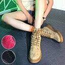 【30%OFF★超目玉】ショートブーツ ワークブーツ ボア レースアップ フラット シューズ 靴 レディース (bo-553)