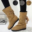 【週末限定ポッキリSALE!】ロングブーツ ブーツ おしゃれ 大きいサイズ ロング ミドル かわいい 黒 歩きやすい 履き…