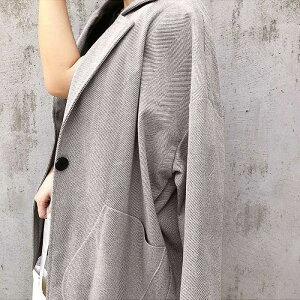 ジャケットアウターコートレディースメルトン調ジャケットセットアップ冬秋ロング長袖大きいサイズ体型カバー(jk108)