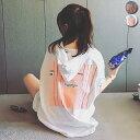 Tシャツ レディース 半袖 カジュアル おしゃれ 大きいサイズ ゆったり ロゴ プリント パーカー 五分袖 カットソー ト…
