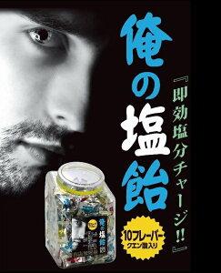 俺の塩飴ミックスボトル 1kg(約200粒入)