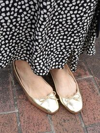 [Rakuten Fashion]メタリックバレエシューズ SHIPS WOMEN シップス シューズ パンプス ゴールド ブラック ブラウン シルバー【送料無料】