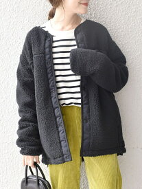 [Rakuten Fashion]【SHIPS別注】Columbia:ボアジャケット◇ SHIPS WOMEN シップス コート/ジャケット ブルゾン ブラック ベージュ【送料無料】