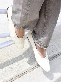 [Rakuten Fashion]【MORE SIZE】ロングスクエアフラットシューズ◇ SHIPS WOMEN シップス シューズ パンプス ホワイト ブラック ブラウン【送料無料】