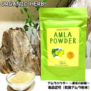 IPM スーパーフード アムラパウダー 100g 免疫力 オーガニック 飲食用アーマラキー 乾燥アムラ粉末 ビタミンC アーユルヴェーダ ハーブティー 美肌 腸活 料理にも 送料無料