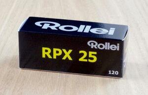 Rollei モノクロフィルム RPX25(120)ブローニー