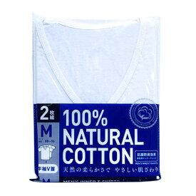 【メール便/送料無料】抗菌防臭Tシャツ2枚組(白/半袖V首)/Mサイズ/アイ・フィット工業
