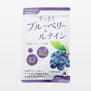 ※【メール便/送料無料】すっきりブルーベリー&ルテイン/120粒/ワイス/健康食品