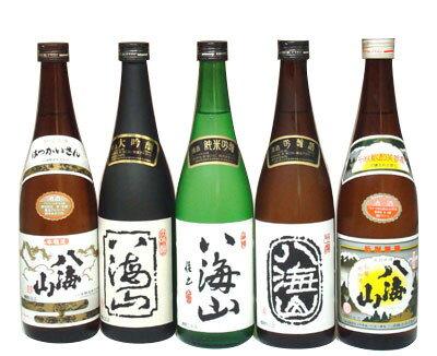 八海山 清酒・本醸造・吟醸・純米吟醸・大吟醸 720ml×5本飲み比べセット − 八海醸造