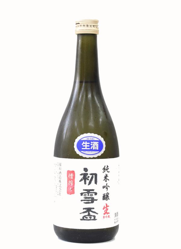 初雪盃 純米吟醸 生原酒 720ml − 協和酒造