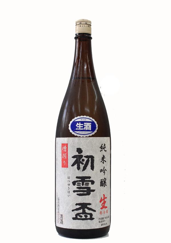 初雪盃 純米吟醸 原酒 1800ml − 協和酒造