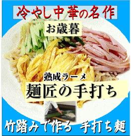 冷やし中華 太麺タイプ10食 麺匠と一番弟子が作る Hiyashi Chuka