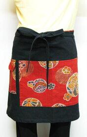 日本製 コットン製 古布調巻き エプロン 4種類