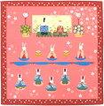 日本製和風布物(綿チーフ)小風呂敷和柄はんかち(ハンカチ)お雛様おひな様ウサギ