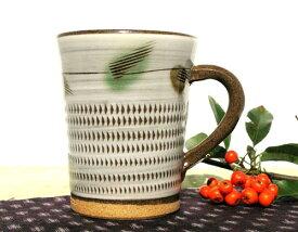 和食器 福岡県伝統工芸品小石原焼 【蔵人窯】手作り 飛びくしマグカップ・コップ