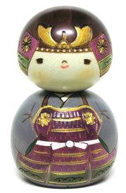 日本のお土産にも人気日本製 民芸品 工芸品卯三郎作 五月人形 こけし かぶと君