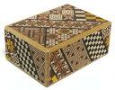 民芸品 工芸品 海外向けおみやげ 寄木細工 箱根の組木細工4寸 秘密箱 4回