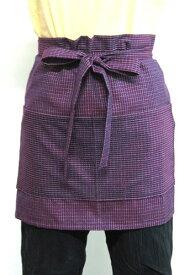 日本製 久留米織 和柄 和調 エプロン巻きエプロン 文人柄 2種類