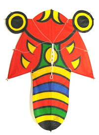 民芸品 和凧 北九州市 戸畑日本凧 手作り 手描き孫次凧 蝉凧 セミ凧(大)