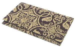 日本製 正倉院裂金封包み ふくさ葡萄(ぶどう)唐草文 紫色 箱付き