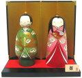 日本のお土産にも人気日本製民芸品工芸品卯三郎作こけし雛祭り立ち雛セット雛人形【送料無料】