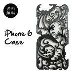 (メール便送料無料)iPhone6ケースカバーオリエンタルでスタイリッシュなデザインのシンプルなアイフォンケースモノトーン白黒