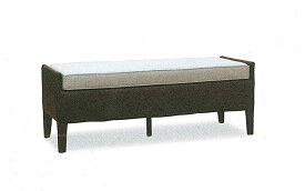 【開梱設置・送料無料】アジロ ラタン ベンチサイズ:幅121×奥行45×高さ45.5cm