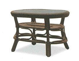 【開梱設置・送料無料】アジロ ラタン リビングテーブルサイズ:幅77×奥行51.5×高さ50cm
