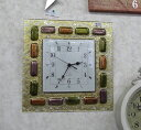 6月中旬入荷予定 予約注文受付ます。【送料無料!!】イタリア製 ガラス 壁掛け時計