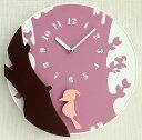 【即納可!!】新入荷しました♪壁掛け 掛け時計 時計 クロックキツツキ ピンクキツツキが左右に揺れます!!