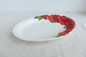 【即納可!!】再入荷しました♪イタリア製 陶器 楕円 パスタ プレート トマト