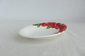 【即納可!!】再入荷しました♪イタリア製 陶器 楕円 プレート トマト