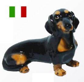 イタリア製陶器 ダックスフンド置物