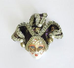 【即納可!!】再入荷しました♪イタリア製 ベネチアンマスク ミニマスク パープルベネチアマスク 装飾小物 W11×H13cm
