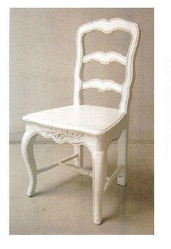 【クーポン利用で5%OFF】再入荷しました♪【送料無料】 カントリーコーナー ロマンス 白家具アンティーク調 ダイニングチェアー ウッドシート椅子 イス ヨーロピアン
